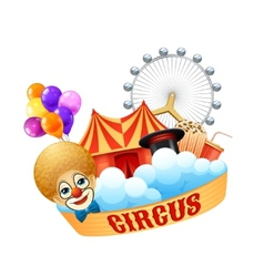 Colorful circus concept vector image