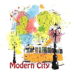 European capital sketch Budapest vector image vector image