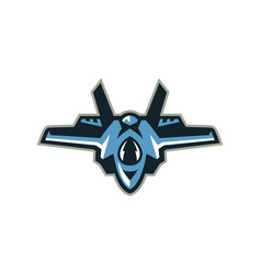 logo of the fighter interceptor aircraft vector image