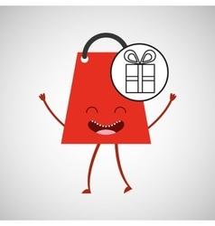 bag shopping gift concept commerce design vector image
