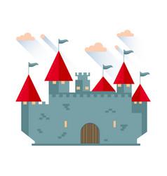 Cartoon fairy tale castle tower vector