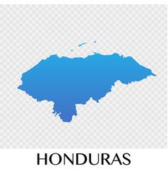 Honduras map in north america continent design vector