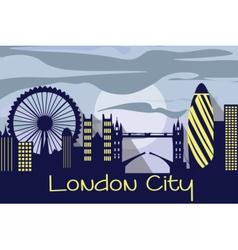 London city silhouette vector image