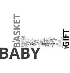 baby shower gift basket the best basket filler vector image