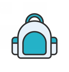 Bag outline icon vector