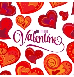 Be main valentine lettering cute doodle seamless vector image