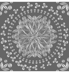 exquisite floral lace vector image vector image