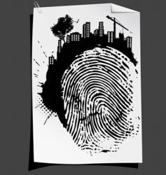 finger mark vector image vector image