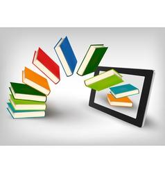 library in e book vector image vector image