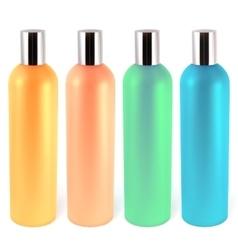 shampoo bottles vector image vector image