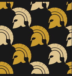 spartan warriors seamless pattern vector image