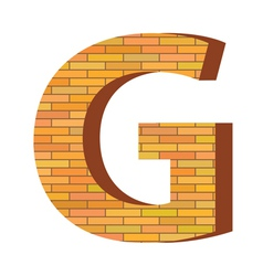 brick letter G vector image vector image