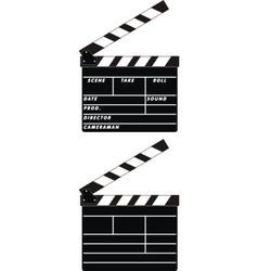 cinema clapboards vector image