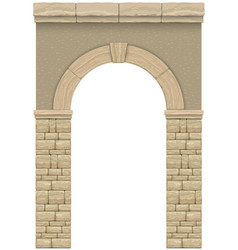 Classic antique arch 1 vector