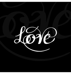 Love typography vector image vector image