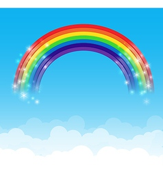 Rainbow cloud and sky background 002 vector image
