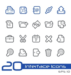 Web Interface Outline Series vector image vector image