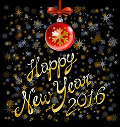 2016 Happy New Year glowing background EPS 10 vector image