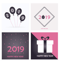 2019 happy new year and marry christmas vector image