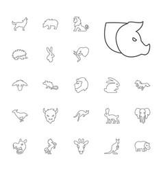 22 mammal icons vector