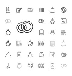 33 ring icons vector