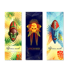 african festive vertical banners vector image