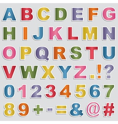Alphabet stickers vector