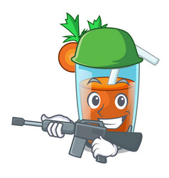 army character healthy carrot smoothie for diet vector image