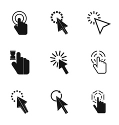 Arrow icons set simple style vector