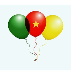 Balloons in as Cameroon National Flag vector