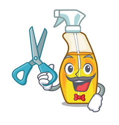 Barber bottle spray in the character form vector