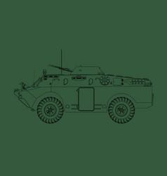 Brdm-2 armored reconnaissance vehicle vector