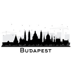 Budapest hungary city skyline silhouette with vector