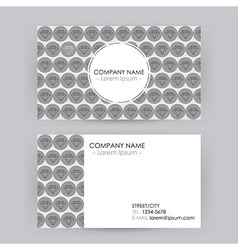 Business Card Line Art Diamond Background vector