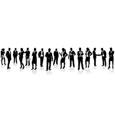 business people in a row vector image