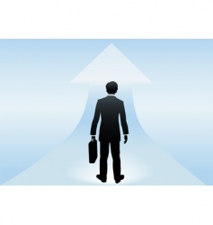 Businessman stands vector