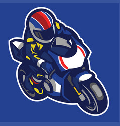 Cartoon style of sportbike motorcycle vector