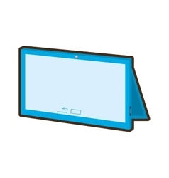 Cartoon tablet connection technology mobile vector