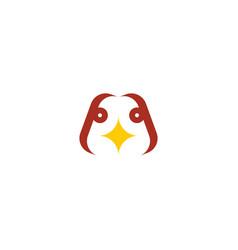 chicken head logo sign icon design element vector image