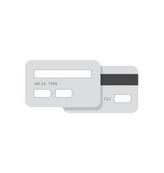 Credit card monochrome template banner of vector