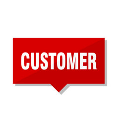 customer red tag vector image