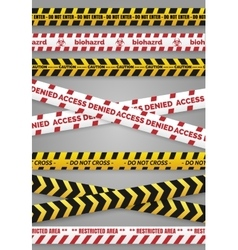Danger construction tapes vector