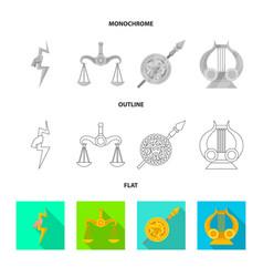 Deity and antique symbol vector