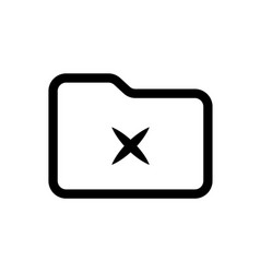 delete folder icon element of simple web icon vector image