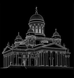 drawing of the cathedral vector image