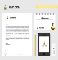 drink bottle business letterhead calendar 2019 vector image