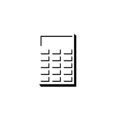 electronic calculator flat icon vector image