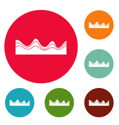 equalizer sound effect icons circle set vector image vector image