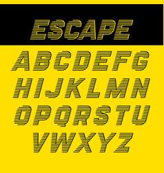 Fast speed style alphabet vector
