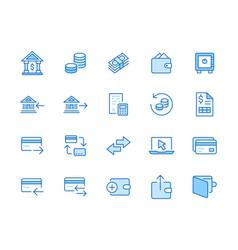 finance line icon set money transfer bank vector image